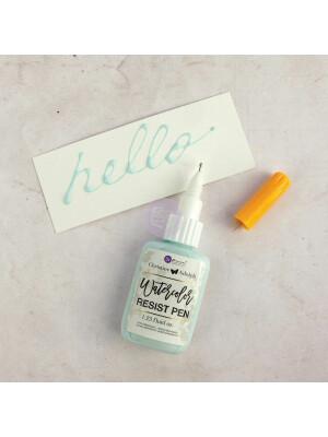 Watercolor Resist Pen / masking fluid in plastic bottle