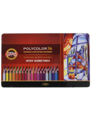 Polycolor pencils Koh-I-Noor in metallic tin