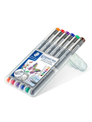 Liner 0,3mm Staedtler set 6 culori