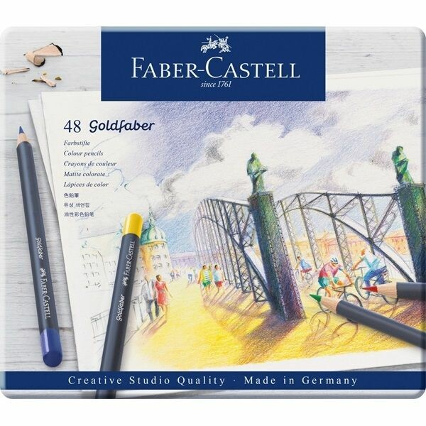 Faber-Castell Colour pencil Goldfaber in metal tin