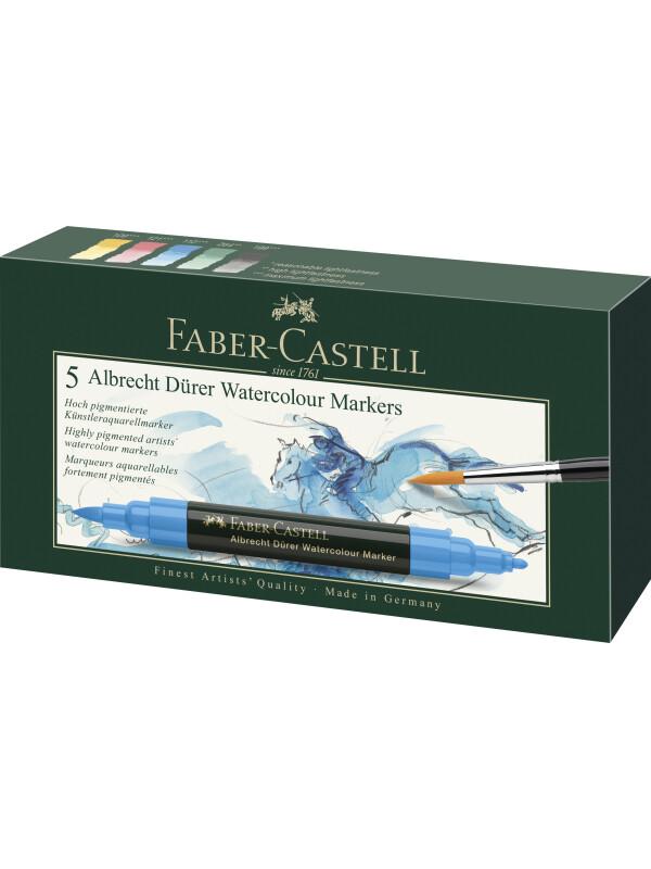 Faber-Castell Albrecht Dürer Watercolour Marker, wallet of 5