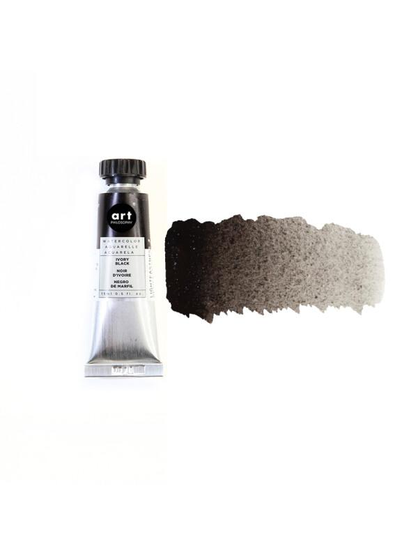 ART PHILOSOPHY® ARTIST GRADE WATERCOLOR TUBES – IVORY BLACK