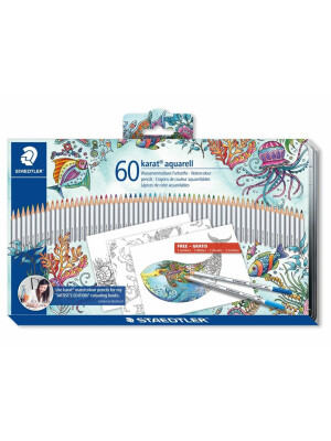 Set 60 creioane Karat Aquarell - Editie Johanna Basford