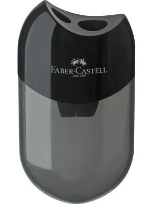 Ascutitoare plastic dubla cu container neagra Faber-Castell
