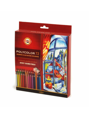 Polycolor pencils Koh-I-Noor with sharpeners