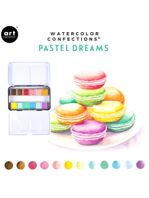 Watercolor Confections - Pastel Dreams