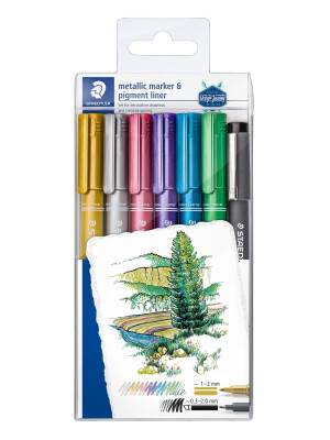 STAEDTLER® 8323 Metallic pen set