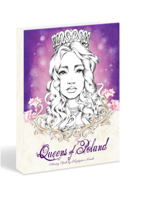 Queens of Poland Coloring book by Krystyna Nowak