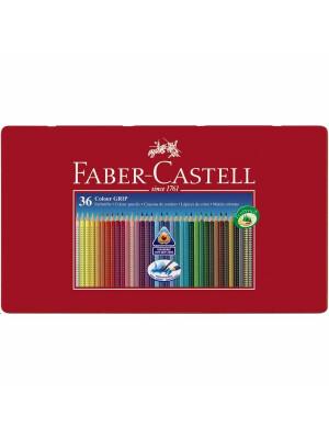 Creioane Colorate 36 Culori Cutie Metal Grip 2001 Faber-Castell