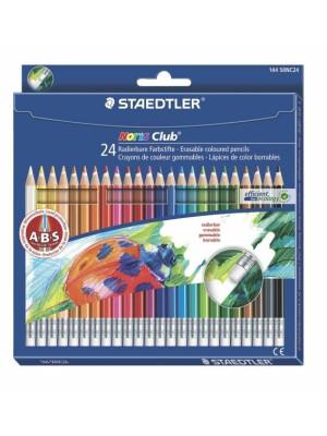Set 24 creioane color NORIS cu guma de sters