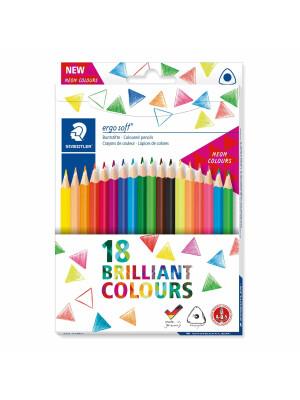 Set 18 creioane color Ergo Soft - NEON COLOURS