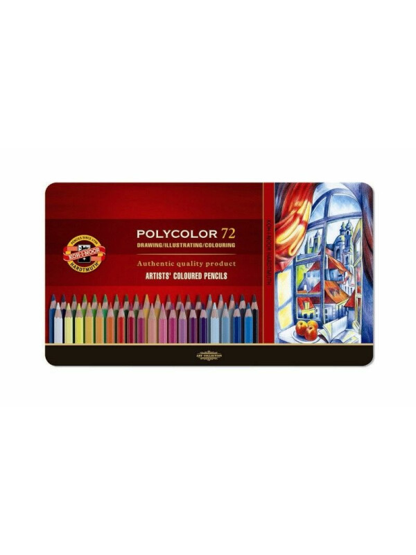 Set creioane color Polycolor Koh-I-Noor cutie metalica