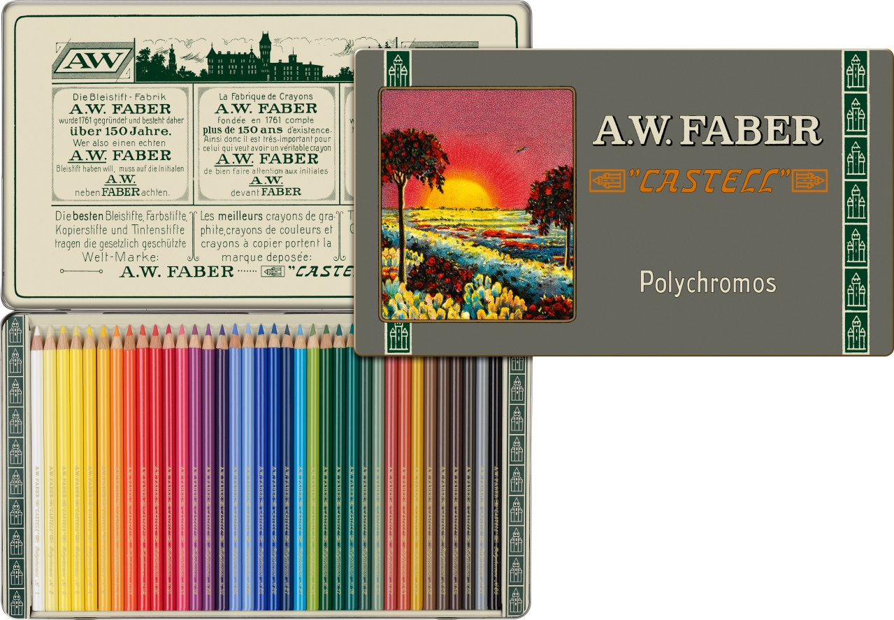polychromos colour pencil special edition tin of 36